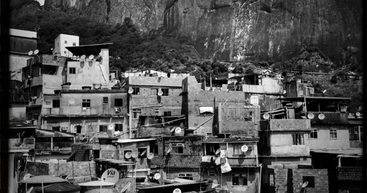 A view of Rocinha, a favela in Rio de Janeiro, from Adilson Mendes Junior's house balcony, on January 14, 2013.</p>