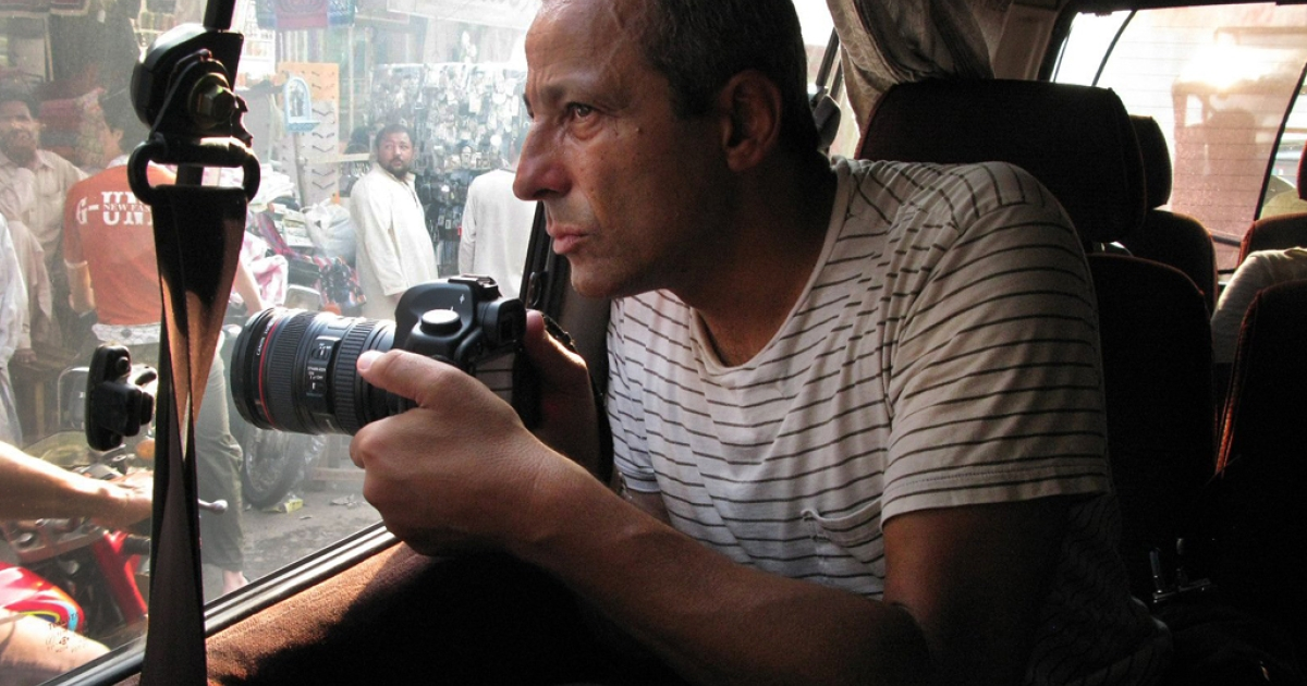 Ed Kashi on assignment.</p>