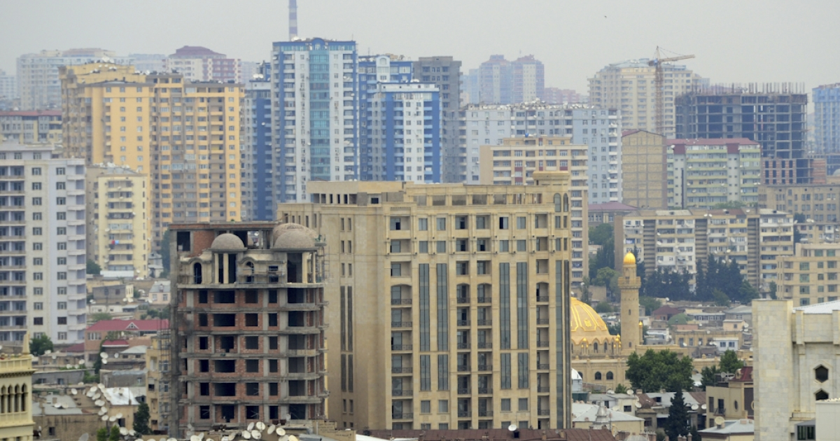 A view of Baku, Azerbaijan, one of six cities to submit a bid to the International Olympic Committee to host the 2020 Olympics. Although Baku's bid is considered a long shot, the Azerbaijan committee said a stadium was already being built for the Olympics and will be ready by next year.</p>