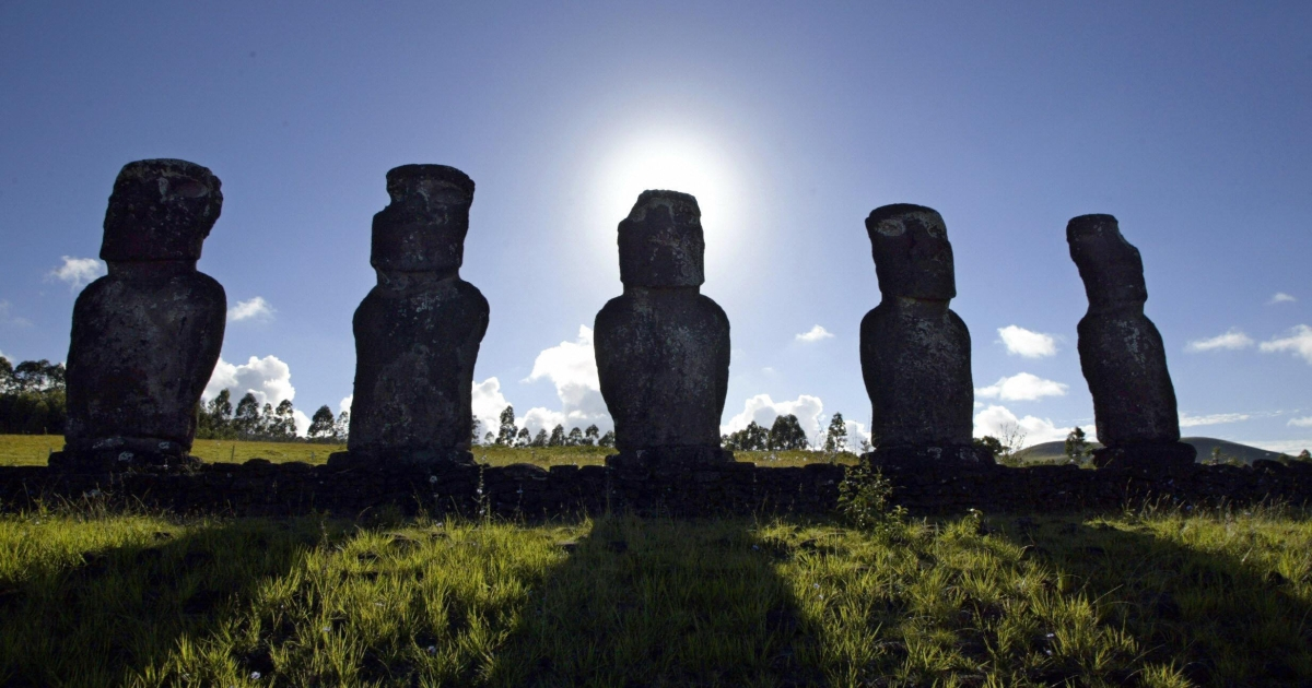 A new study found that Easter Island's famous heads may have been walked into place.</p>