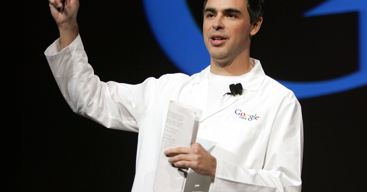 Google co-founder Larry Page.</p>