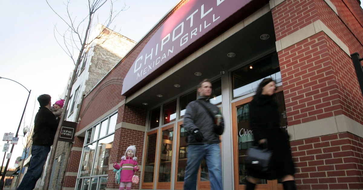 Chipotle Mexican Grill Inc. reported that its first quarter earnings were up 35 percent.</p>