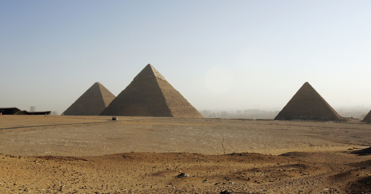 The Pyramids of Giza still hold mysteries that researchers are trying to solve.</p>