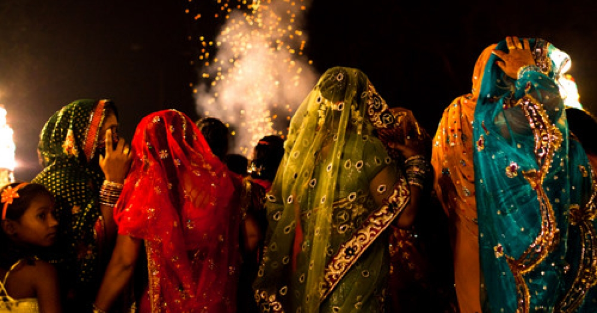 Members from the Rajan Band, Kotla Mubarakpur prepare prior to performing at a wedding on November 23, 2011 in New Delhi, India.</p>