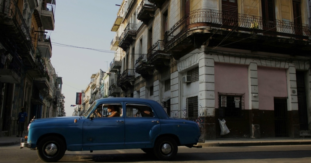 A vehicle passes through the streets of Havana on Sept. 17, 2006.</p>