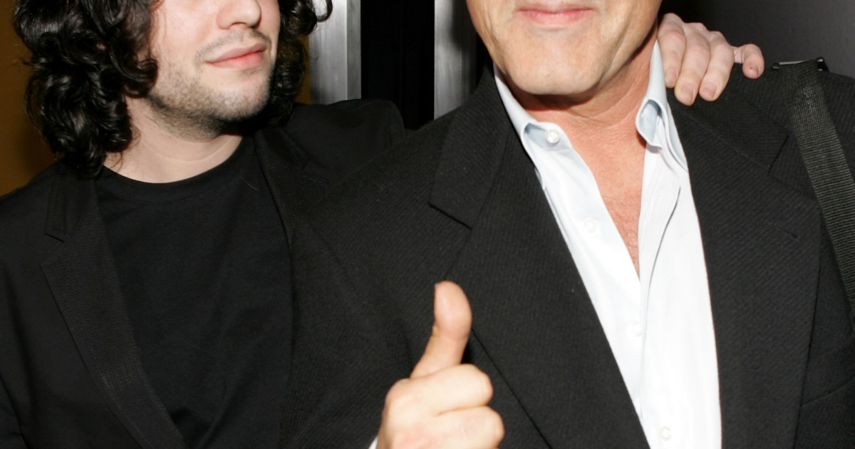 Actors Sage Stallone and Frank Stallone arrives at the premiere of MGM's