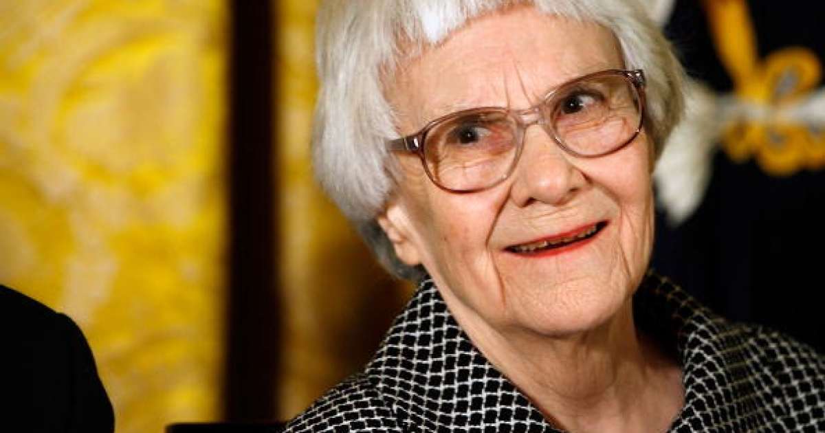 Pulitzer Prize winner and 'To Kill A Mockingbird' author Harper Lee smiles before receiving the 2007 Presidential Medal of Freedom in the East Room of the White House</p>