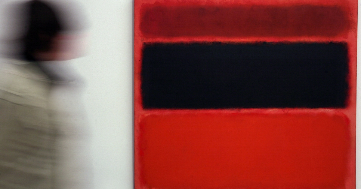 A Mark Rothko painting was defaced with black marker at London's Tate Modern gallery Sunday.</p>