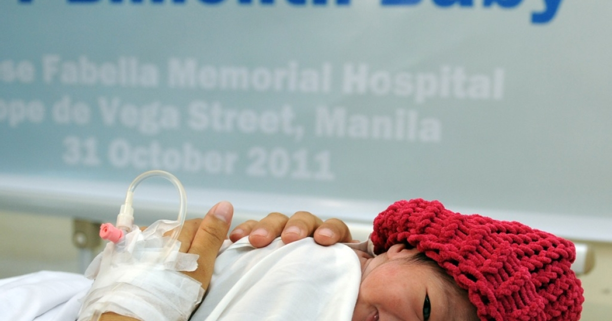 Danica May Camacho, the Philippine's symbolic 7 billionth baby, was born at a state maternity hospital in Manila.</p>