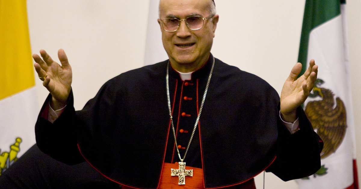 Secretary of State Cardinal Tarcisio Bertone (above) has said that the media is to blame for