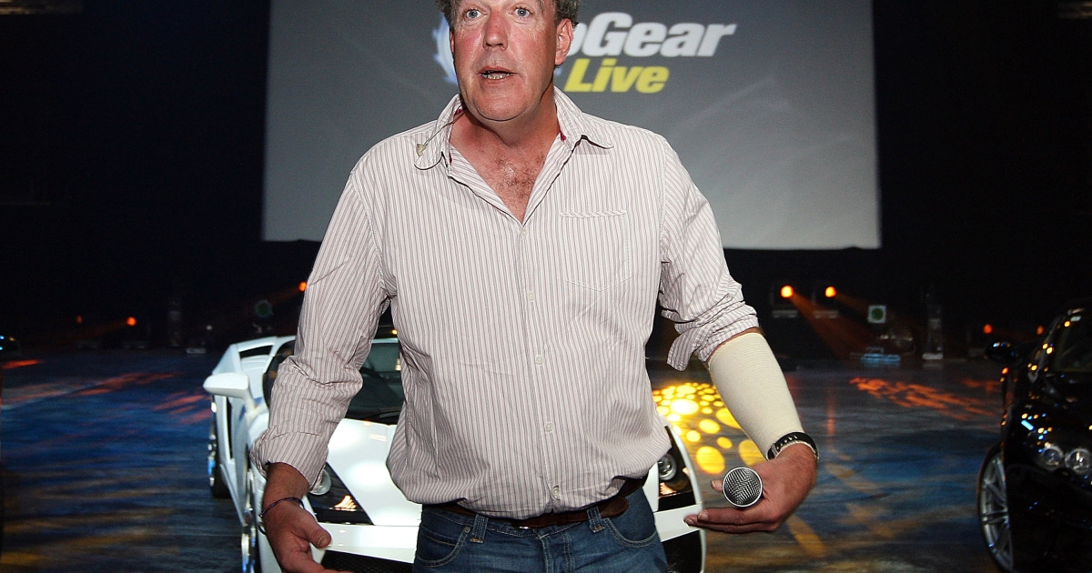 Top Gear presenter Jeremy Clarkson talks during a media call for