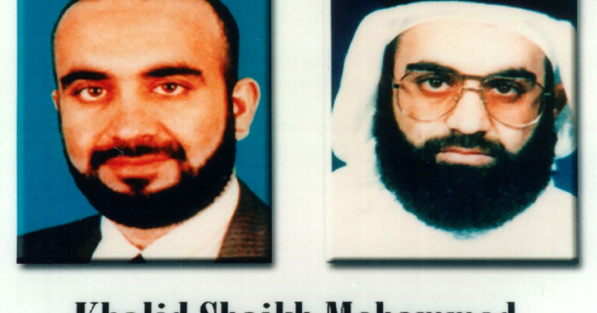 Khalid Shaikh Mohammed, a suspected terrorist, is shown in this photo released by the FBI October 10, 2001 in Washington, D.C.</p>