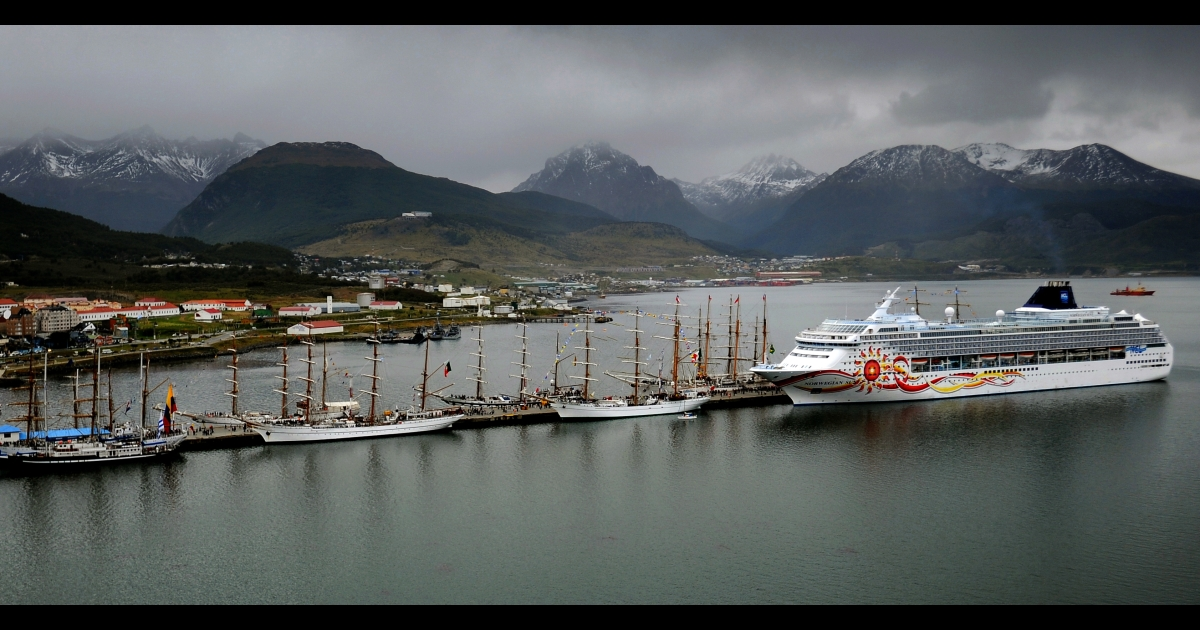 Two British cruise ships were denied entry from the Argentine port of Ushuaia, often referred to as the most southern city on earth.</p>