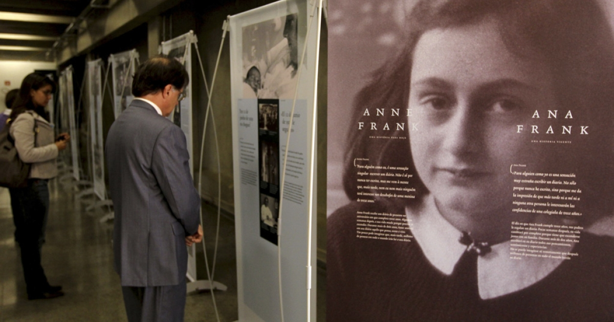 People visit the exhibition, Anne Frank: A Story For Today, at the Unified Educational Center in Sao Paulo, Brazil. A scholar says she uncovered documents that prove a Mormon church posthumously baptized Frank.</p>