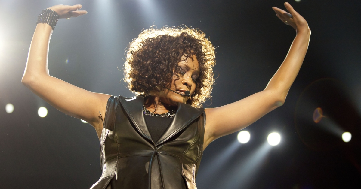 Whitney Houston performs live in Berlin, Germany, on May 12, 2010.</p>