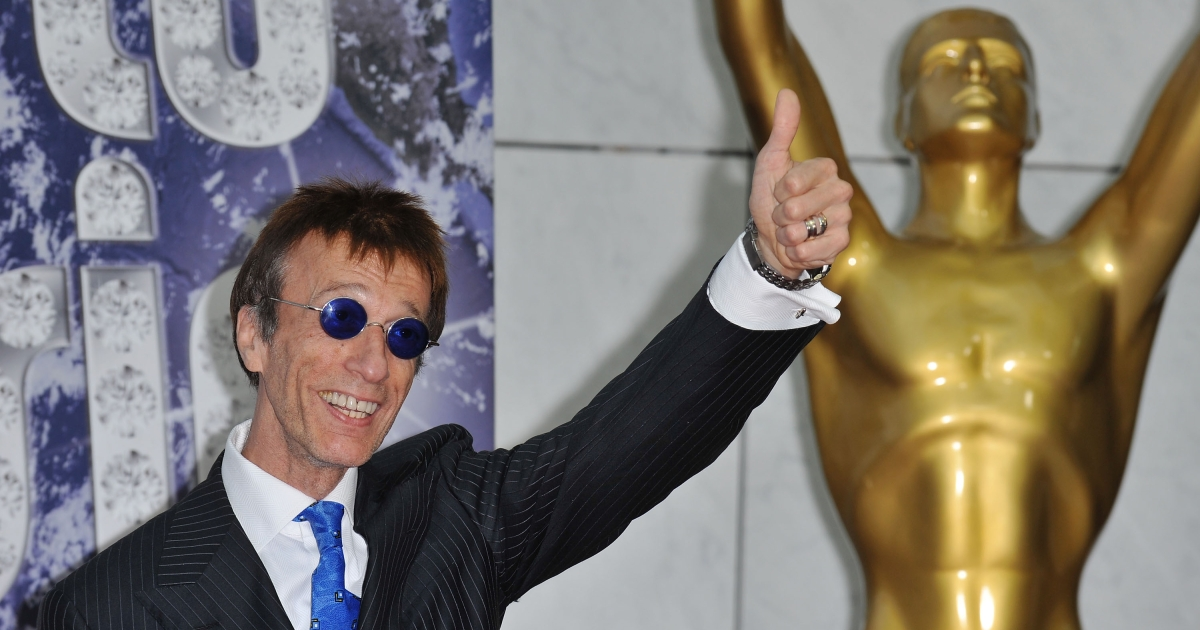 Bee Gees member Robin Gibb attends the World Music Awards 2010 at the Sporting Club on May 18, 2010 in Monte Carlo, Monaco.</p>