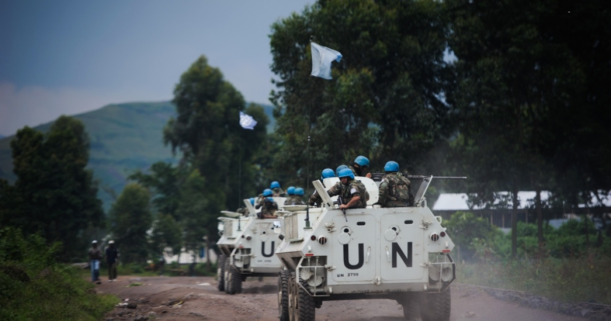 UN armored personnel in Congo on Nov. 18, 2012.</p>