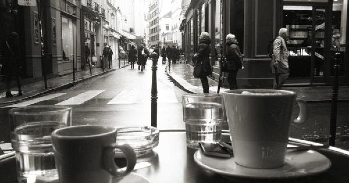 The view from a Paris cafe on Jan. 11, 2013.