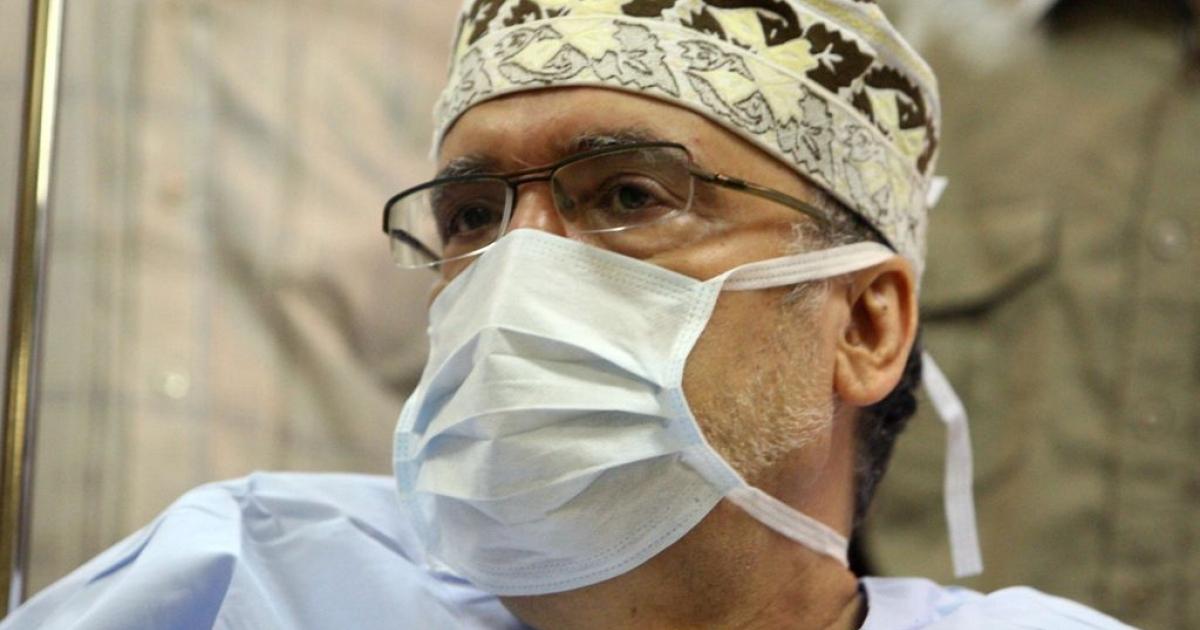 Lockerbie bomber Abdel Baset al-Megrahi, pictured in hospital in Tripoli on September 9, 2009.</p>