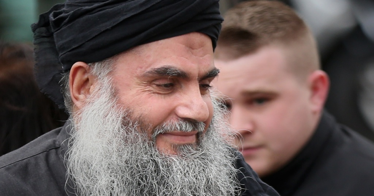 Muslim Cleric Abu Qatada arrives home after being released from prison on November 13, 2012 in London, England.  Abu Qatada was released on bail, having won his appeal against deportation, claiming he would not get a fair trial in Jordan where he is accused of plotting bomb attacks.</p>