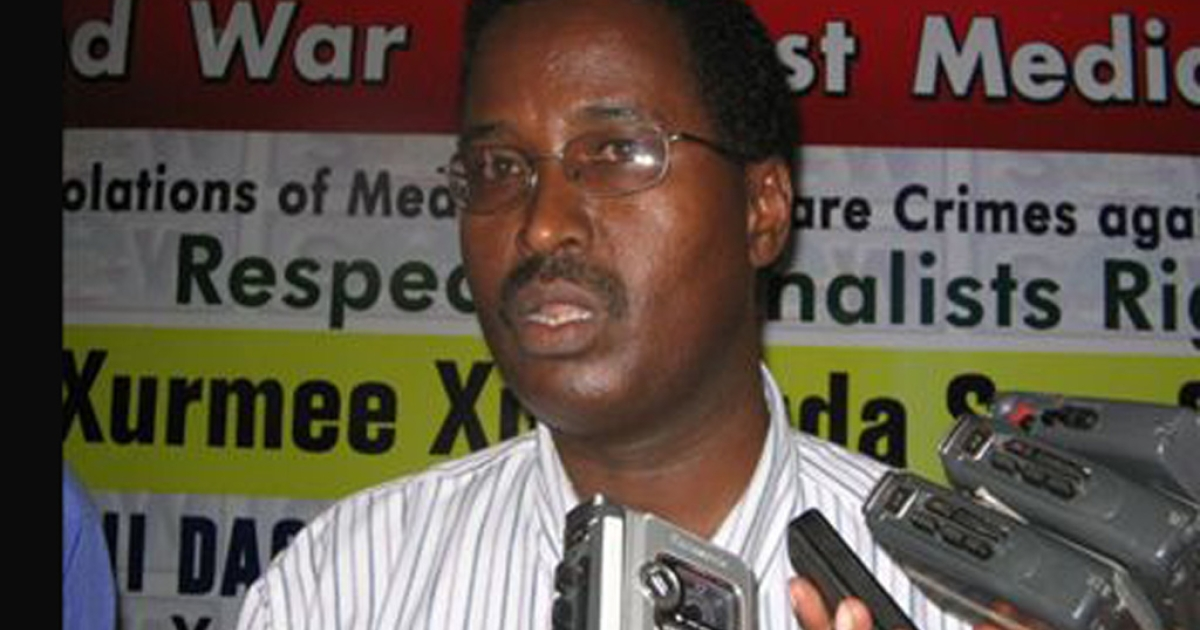 Abukar Hassan Mohamoud, a Somali radio journalist, was gunned down in front of his home Tuesday.</p>