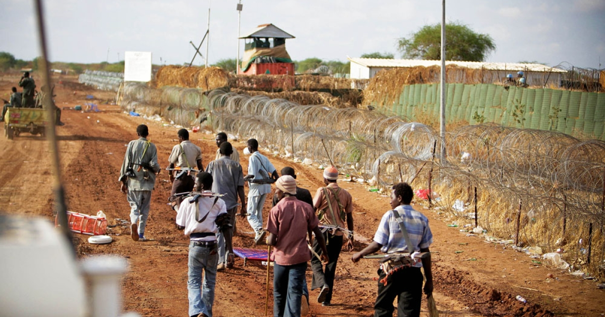 After the occupation. In Abyei armed militia roam the streets outside the fortified UN compound where four helicopters were shot at by unidentified gunmen.</p>