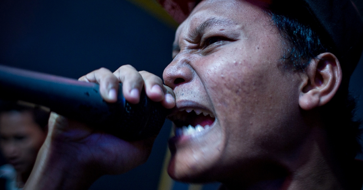 Juanda a.k.a Lowbatt, a punk member, pratices with his street punk rock band called Boeloek.</p>