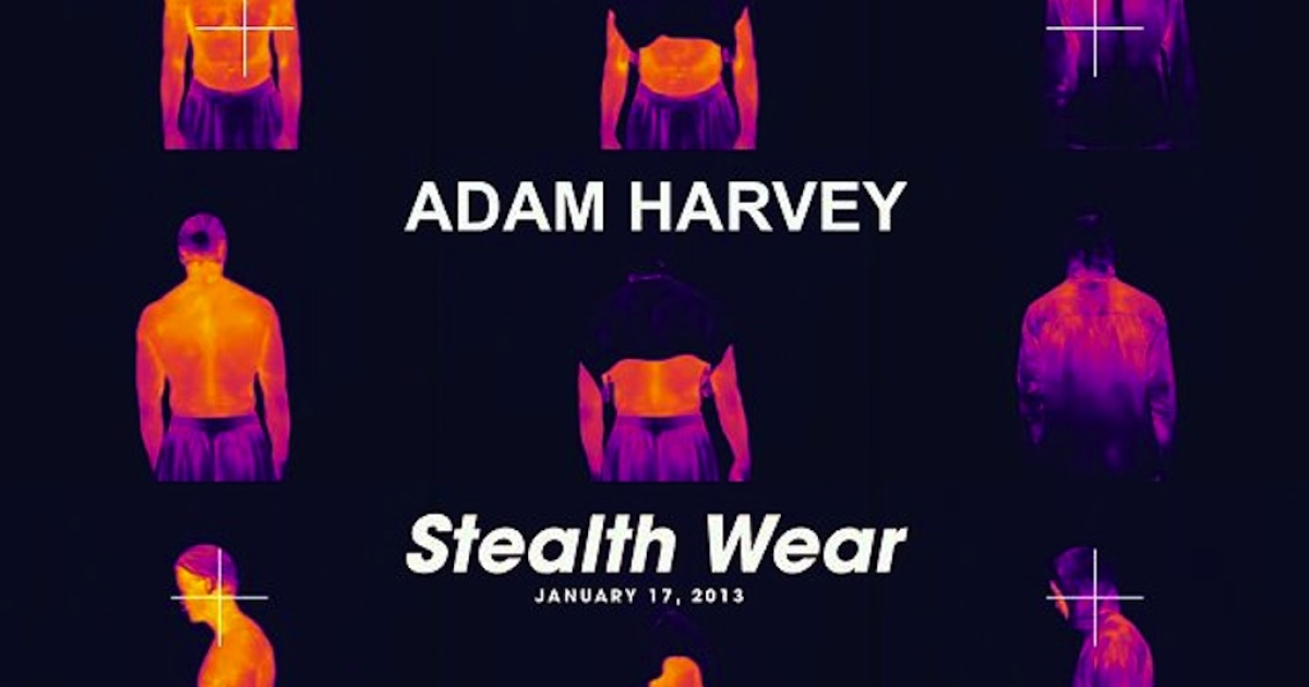 The stealth wear designed by New York City-based artist Adam Harvey can be seen at Primitive in London this month.</p>