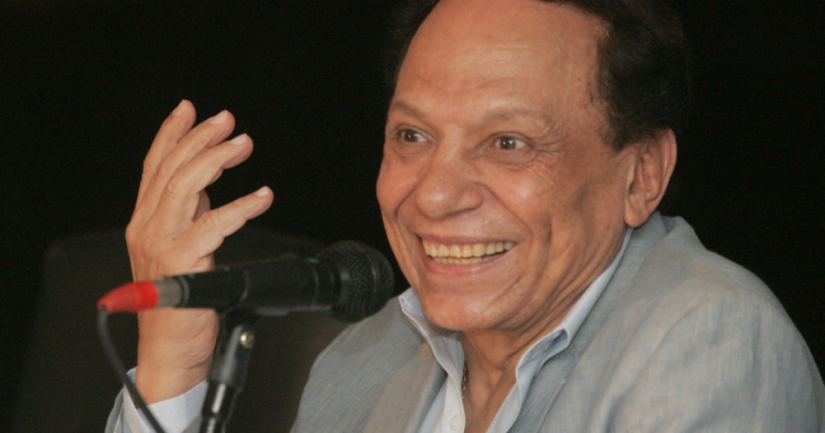 Egyptian actor and UN goodwill ambassador Adel Imam at a 2007 press conference.</p>