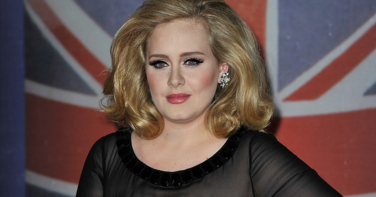 Adele attends The BRIT Awards 2012 at the O2 Arena on February 21, 2012 in London, England.</p>