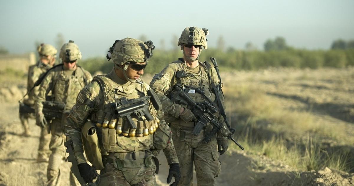 US Army soldiers in Panjwai, Afghanistan.</p>