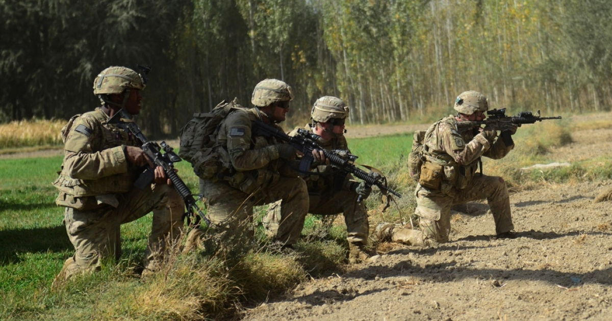 US soldiers in Logar Province on Oct. 13, 2012.</p>