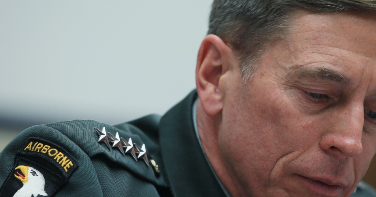 Gen. David Petraeus, commander of the International Security Assistance Force and commander of U.S. Forces Afghanistan, participates in a House Armed Services Committee hearing, March 16, 2011 in Washington, DC.</p>