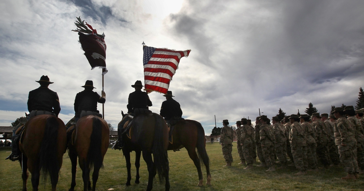 A military honor guard prepares to present colors at a departure ceremony for Afghanistan-bound soldiers on November 4, 2011 in Fort Carson, Colorado. The commander of U.S. and NATO troops in Afghanistan, Gen. John R. Allen, fired Major Gen. Peter Fuller, a senior U.S. Army general, on Friday for disparaging comments he made about President Hamid Karzai and the Afghan government.</p>