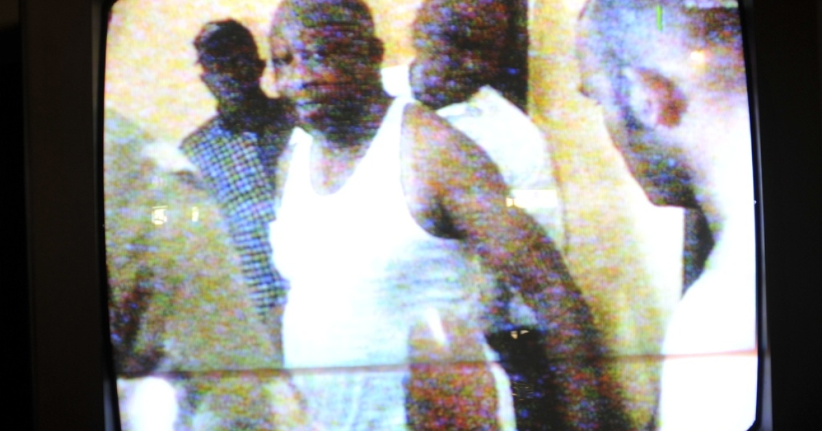 Laurent Gbagbo appearing on television in Ivory Coast shortly after his capture. Troops loyal to Ivory Coast leader Alassane Ouattara captured former strongman Gbagbo and his wife Simone and brought them to Abidjan's Golf Hotel, where Ouattara is based.</p>