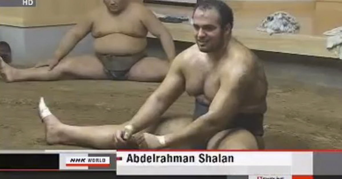 Africa's first professional sumo wrestler made his debut March 13, 2012, in Osaka, Japan. Abdelrahman Ahmed Shaalan, 20, an Egyptian national who goes by the name