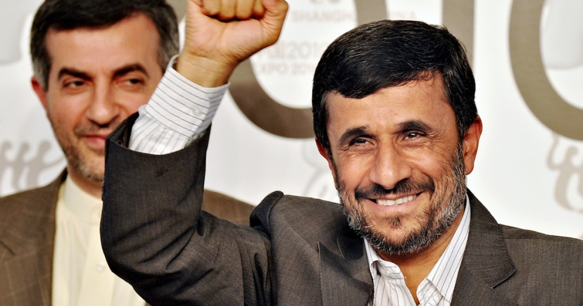Iranian President Mahmoud Ahmadinejad today said he was willing to be the country's first man in space.</p>