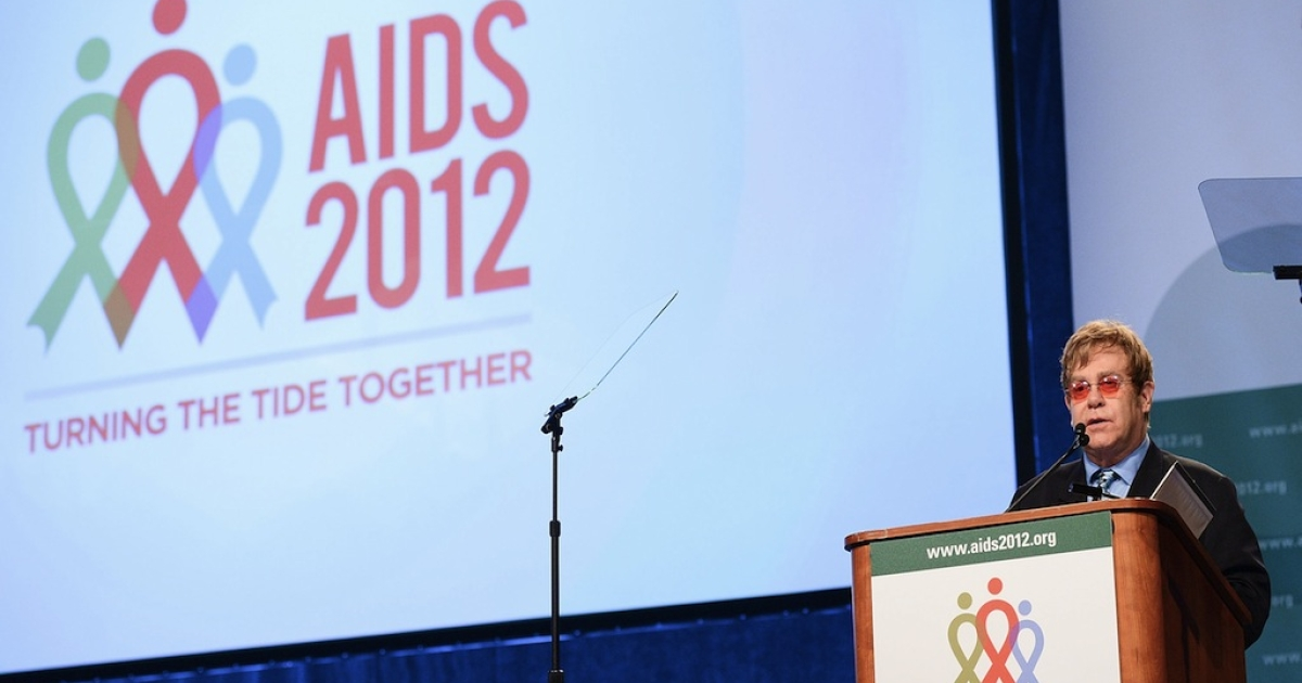 Sir Elton John speaks at the 19th International AIDS Conference on July 23, 2012 in Washington, DC. The world now needs to focus on not just getting ahead of the epidemic and winning, but ending it for good.</p>