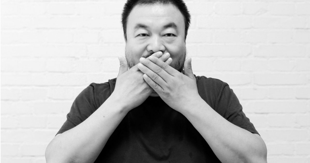Chinese artist Ai Weiwei in his studio in Beijing in 2009.</p>