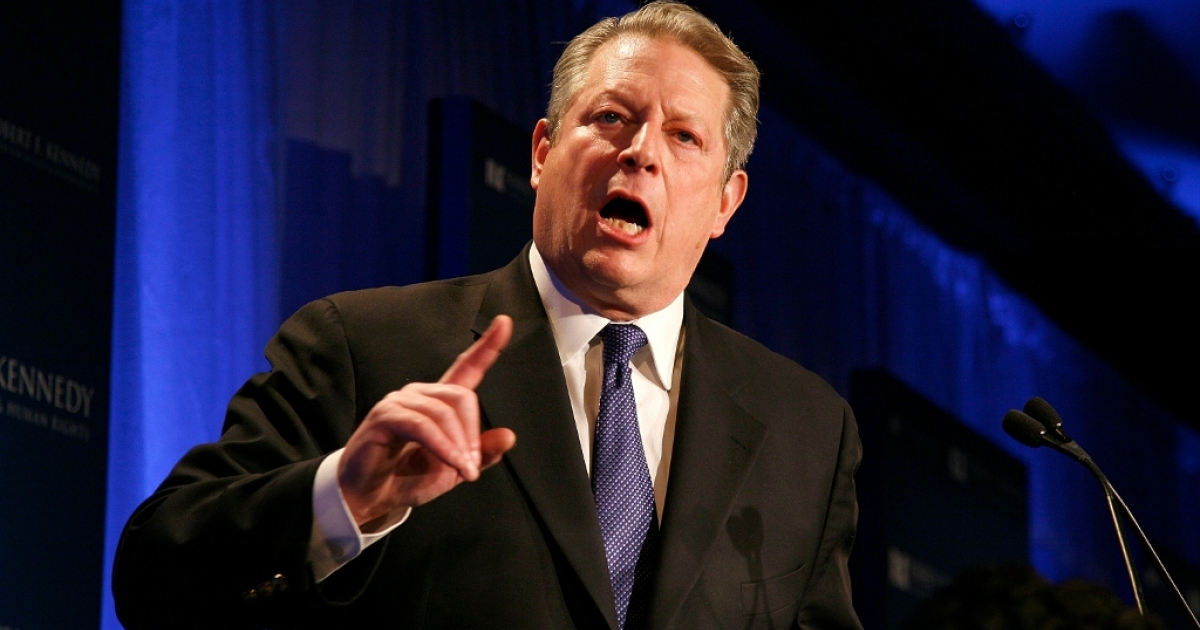 Al Gore is honored at the Robert F. Kennedy Center for Justice and Human Rights Dec. 5, 2011 in New York City.</p>