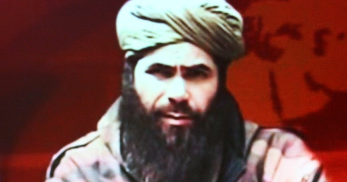 Abdelmalek Droukdel alias Abou Moussab Abdelwadoud, head of Al Qaeda in the Islamic Maghreb (AQIM) seen on US monitoring group SITE Intelligence, on November 19, 2010 in Paris.</p>