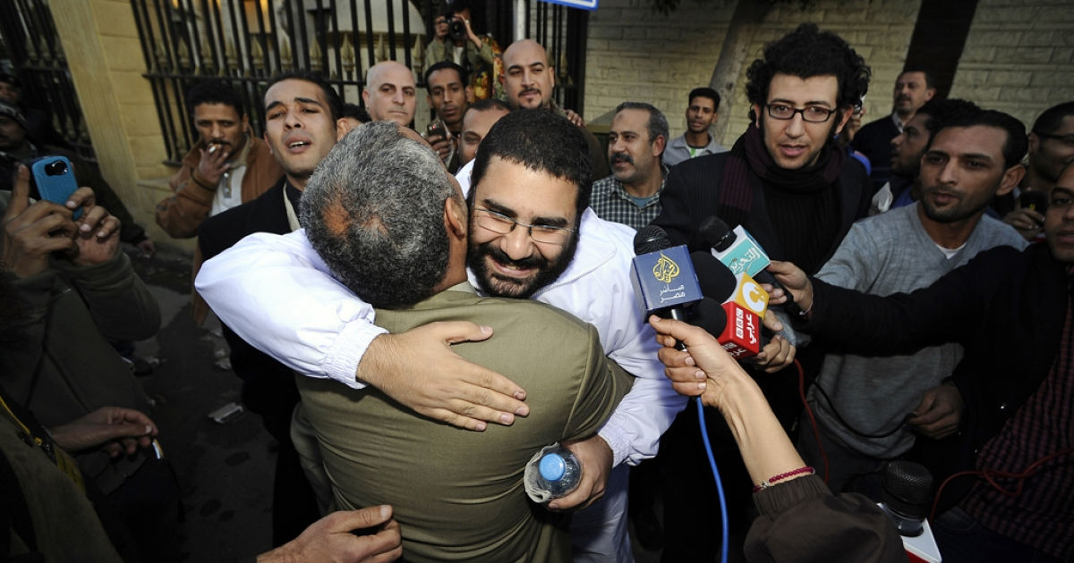 Alaa Abdel Fattah, who has been jailed for two months for