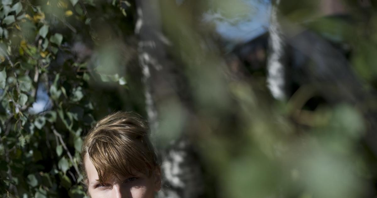 Swedish actress Aleksa Lundberg, who is transgendered, in Stockholm.</p>
