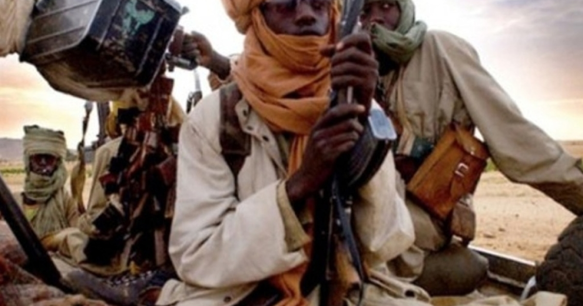A picture taken with a mobile phone on January 12, 2013 reportedly shows Islamist insurgents in Gao, Mali.</p>