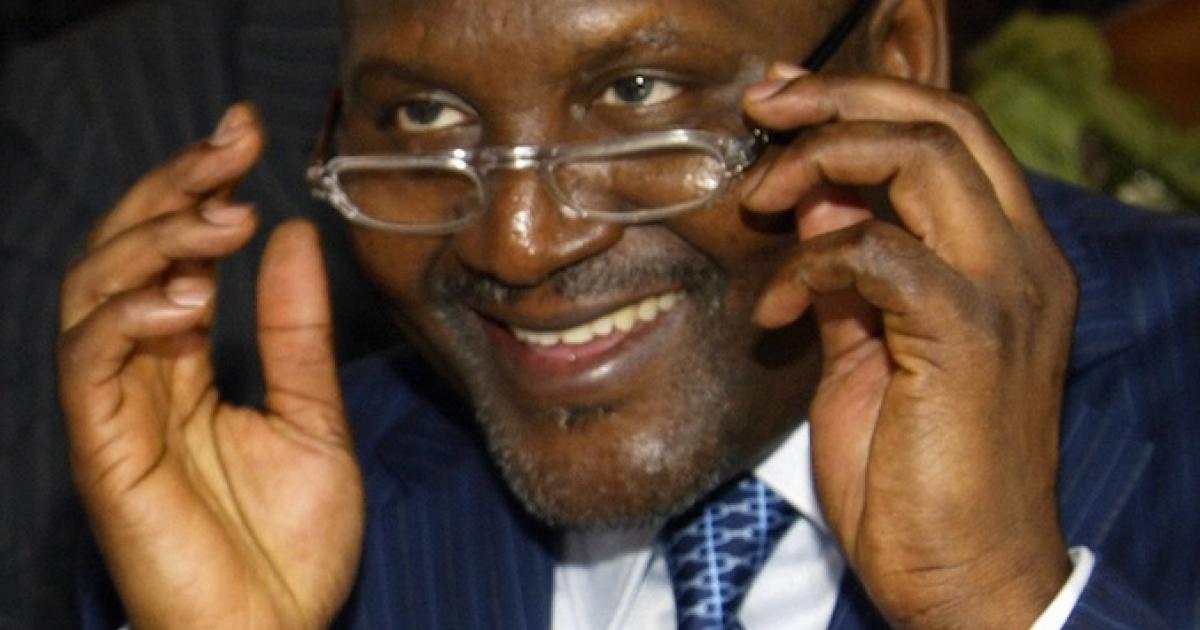 Nigerian billionaire Aliko Dangote.</p>