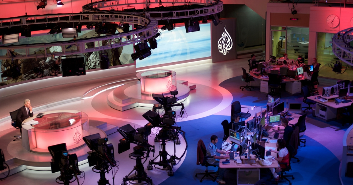 The Al Jazeera English newsroom in Doha, Qatar.</p>