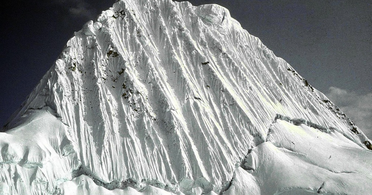 Undated picture of the 19,000 feet of altitude Alpamayo peak, Central Peruvian Andes. Climbing the high peaks of the Cordillera Blanca mountain range is risky business.</p>