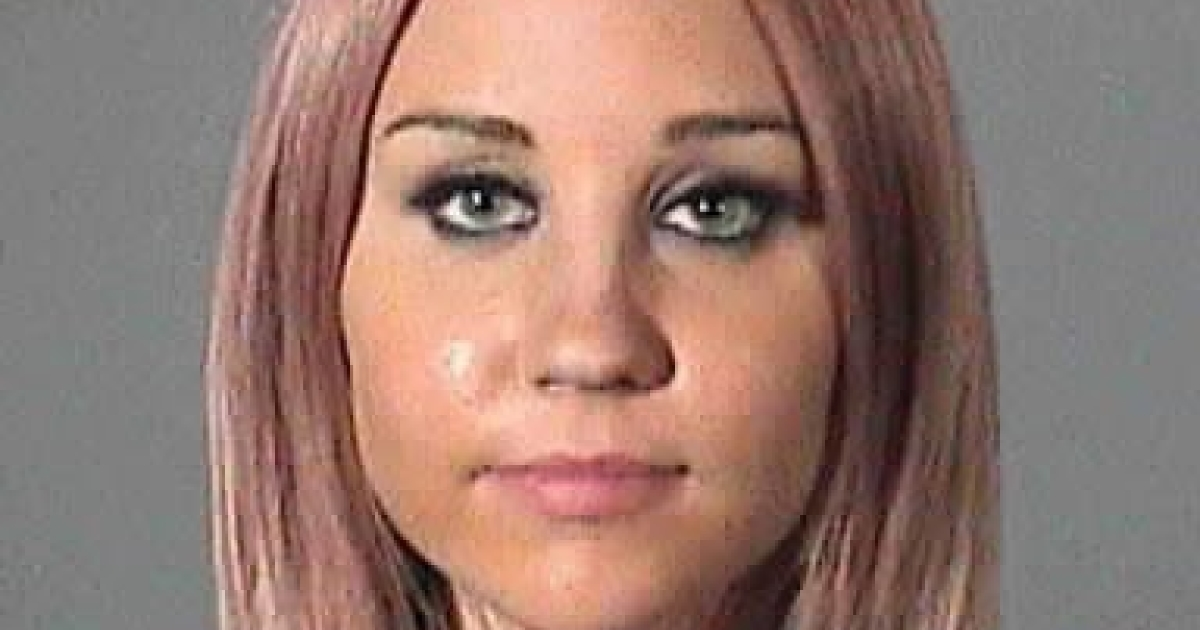 WEST HOLLYWOOD, CA - APRIL 06: In this handout image provided by the Los Angeles County Sheriff's Office, actress Amanda Bynes is seen in a police booking photo April 6, 2012 in West Hollywood, California. Bynes was arrested for driving under the influence of alcohol.</p>