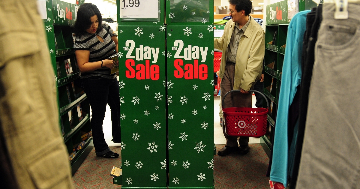American consumer confidence jumped in November, which could hopefully forecast a positive holiday shopping season.</p>