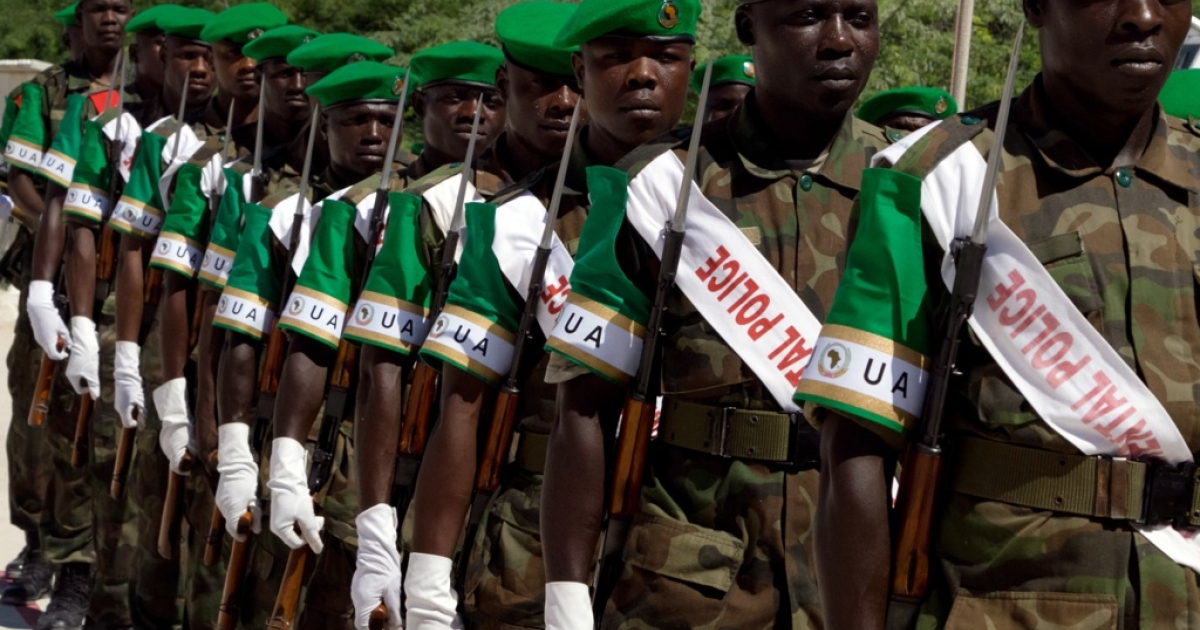 Kenya has promised more troops for the African Union Mission in Somalia (AMISOM), if asked.  Ugandan soldiers serving in Somalia under AMISOM are pictured here in Mogadishu on Nov. 22, 2009.</p>
